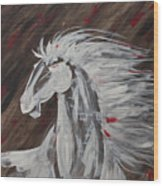 Tale Of The Wind Horse Wood Print