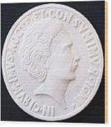 Talent Of Stefano Bollani As Byzantine Emperor In Girum Imus Nocte Et Consumimur Igni Wood Print by Marino Ceccarelli Sculptor
