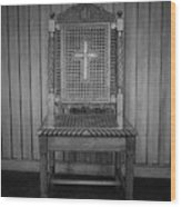 Talking To The Chair Wood Print