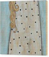 Tall Angel With Bird Wood Print by Rain Ririn