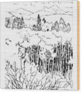 Tall Aspens Rocky Mountains Wood Print