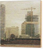 Tall Buildings Wood Print