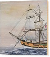 Tall Masted Ship Wood Print