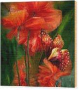Tall Poppies Wood Print