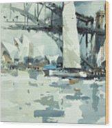 Tall Sails In Sydney Wood Print