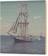 Tall Ship - 3 Wood Print