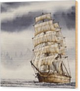 Tall Ship Adventure Wood Print