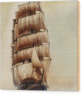 Tall Ship Carradale Wood Print
