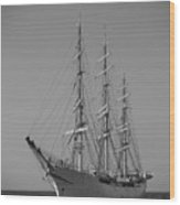 Tall Ship Denmark  Wood Print by Dustin K Ryan
