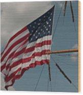 Tall Ship Flag I Wood Print