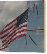 Tall Ship Flag IIi Wood Print