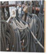 Tall Ship Lines Vi Wood Print