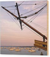 Tall Ship Mayflower II In Plymouth Massachusetts Wood Print