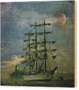 Tall Ship New York Harbor 1976 Wood Print
