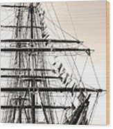 Tall Ship Wood Print