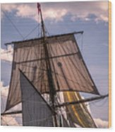 Tall Ship Sails 6 Wood Print