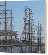 Tall Ship Series 9 Wood Print by Scott Hovind