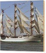 Tall Ship Wood Print by Robert  Torkomian