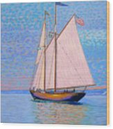 Tall Ship Virginia Entering Halifax Harbour Wood Print