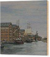 Tall Ships At Gloucester Docks Wood Print