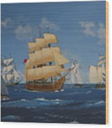 Tall Ships Duluth I Wood Print