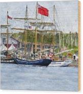 Tall Ships Festival Wood Print