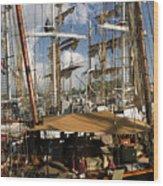 Tall Ships Heritage Landing Wood Print