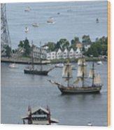 Tall Ships -hms Bounty Wood Print