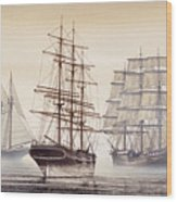 Tall Ships Wood Print by James Williamson
