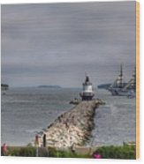 Uscg Eagle In Maine Wood Print
