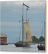 Tall Ships Sailing II Wood Print by Suzanne Gaff