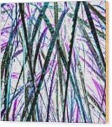 Tall Wet Grass Wood Print