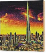 Tallest Building In The World Wood Print