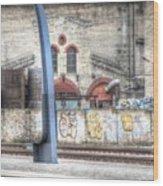 Tallin Graffiti Station Wood Print