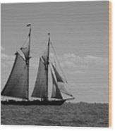 Tallship Wood Print