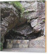 Tallulah Gorge Stone Bench 2 Wood Print