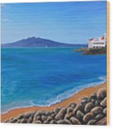 Tamaki Yacht Club Wood Print