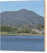 Tamalpais View From Bayfront Park Wood Print