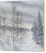 Tamarack Swamp In Winter 2  Wood Print