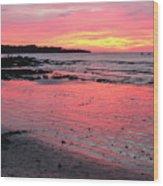 Tamarindo Sunset Wood Print