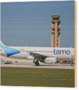 Tame Airline Wood Print