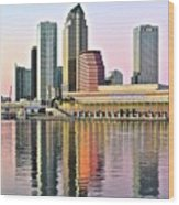 Tampa Bay Alive With Color Wood Print