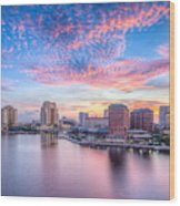 Tampa Bay Sunrise Wood Print