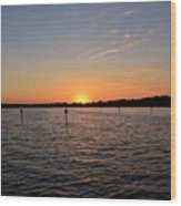 Tampa Bay Sunset Wood Print