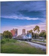 Tampa Departure Wood Print
