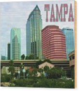 Tampa From The River Tote Wood Print