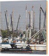 Tampa Shrimp Boats Wood Print