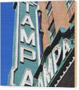 Tampa Tampa Wood Print