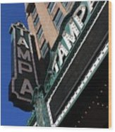 Tampa Theatre  Wood Print by Carol Groenen