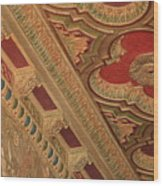 Tampa Theatre Ornate Ceiling Wood Print